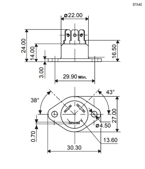 Тиристор BTA40-800B RD91