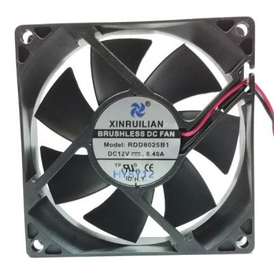Вентилятор DC 80x80x25 (12v/0.4A) RDD8025B1 качения XINRUILIAN