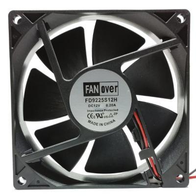 Вентилятор DC 92x92x25 (12v/0.2A) FD9225S12H скольжения FanOver