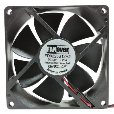 Вентилятор DC 92x92x25 (12v/0.2A) FD9225S12H2 скольжения FanOver