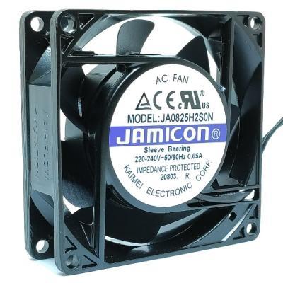 Вентилятор AC 80x80x25 (220v/0.05A) JA0825H2S010N-L-R скольжения Jamicon