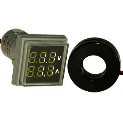 Цифровой LED вольт-амперметр DMS-201 AD16-22FVA W