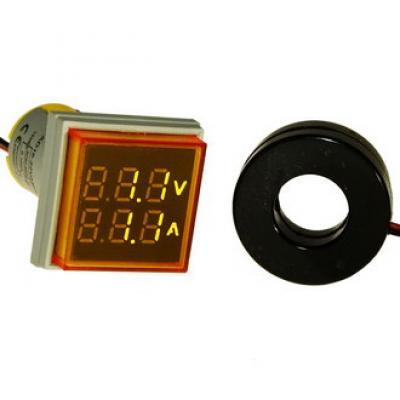 Цифровой LED вольт-амперметр DMS-202 AD16-22FVA Y