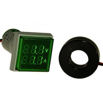 Цифровой LED вольт-амперметр DMS-203 AD16-22FVA G