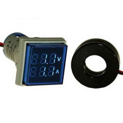 Цифровой LED вольт-амперметр DMS-204 AD16-22FVA B
