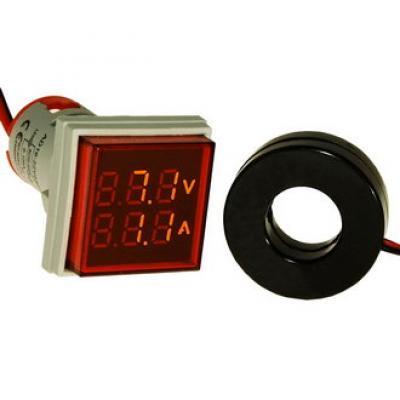 Цифровой LED вольт-амперметр DMS-205 AD16-22FVA R