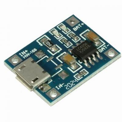 Зарядное устройство для литиевых АКБ с защитой EM-826 (TP4056)