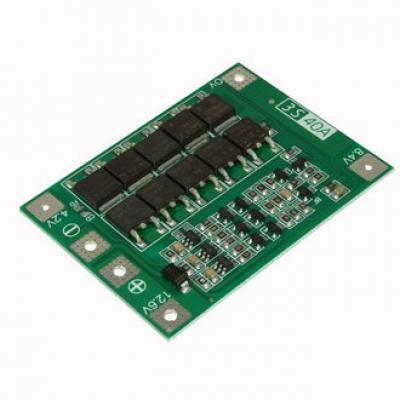 Плата защиты Li-ion батареи (3S 40A) с балансировкой и ф-цией восстановления EM-827