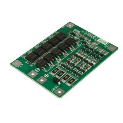 Плата защиты Li-Ion батареи (4S 40A) с балансировкой и ф-цией восстановления EM-837