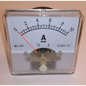 Амперметр DC 60x60 10ADC