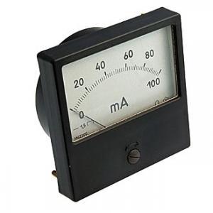 Амперметр DC М42300 80x80 100mADC