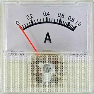 Амперметр AC 40х40 (пласт) 1AAC