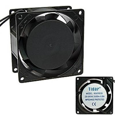 Вентилятор AC 80x80x38 (220v/0,08A) RQA8038HSL скольжения Tidar