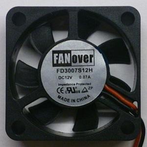 Вентилятор DC 30x30x07 (12v/0,07A) FD3007S12H скольжения FanOver