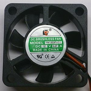 Вентилятор DC 30x30x07 (12v/0,07A) YM1203PVC1 качения