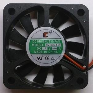Вентилятор DC 50x50x10 (12v/0,09A) YM1205PFB1 качения