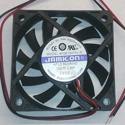 Вентилятор DC 60x60x10 (12v/2.8W) KF0610H1H-012-243R скольжения Jamicon