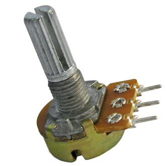 Переменный резистор 16k1KC (моно) 0,25W 100к