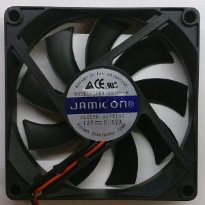 Вентилятор DC 80x80x15 (12v/0.17A) JF0815S1H скольжения Jamicon