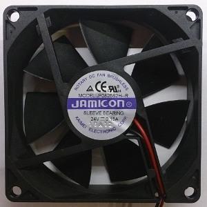 Вентилятор DC 80x80x25 (24v/0.15A) JF0825S2H-001-065R скольжения Jamicon