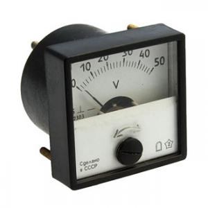 Вольтметр DC М42303 40х40 (аналог) 50VDC
