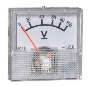 Вольтметр DC 40х40 (пласт) 100VDC