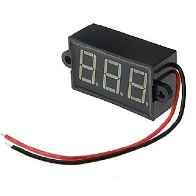 Вольтметр DC (цифровой) 3,5-30VDC red IP68 (24x42mm)