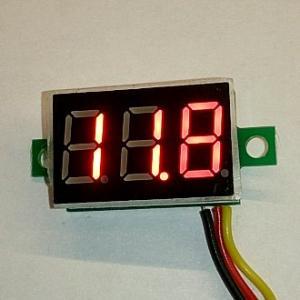 Вольтметр DC (цифровой) 0-200VDC (красный)