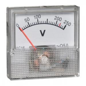 Вольтметр AC 40х40 (пласт) 50Гц 250VAC