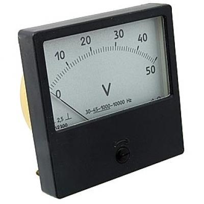 Вольтметр AC Ц42300 80x80 (аналог) 50VAC