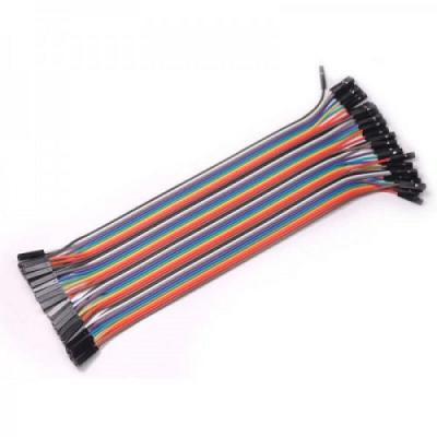 кабель перемычка 20 см F-F (2.54 мм)
