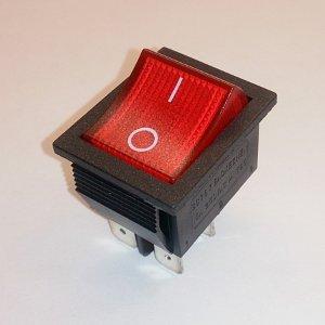 Клавишный переключатель SCS767 On-off (red) 15A 250V
