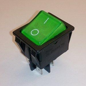Клавишный переключатель SCS767 On-off (green) 15A 250V