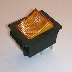 Клавишный переключатель KCD2 On-off (yellow) 16A 250V