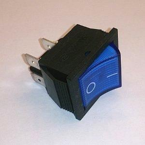 Клавишный переключатель SCS767 On-off (blue) 15A 250V