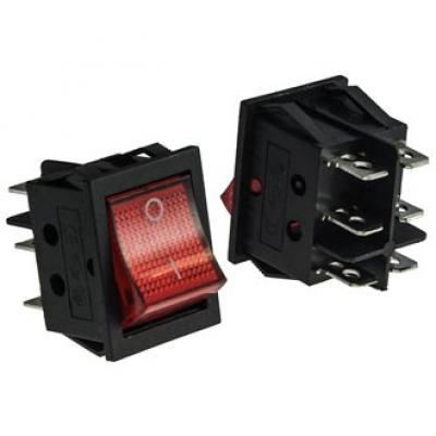 Клавишный переключатель RWB506 on-on (red) 16A 250V