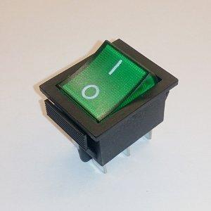 Клавишный переключатель RWB506 on-on (green) 16A 250V