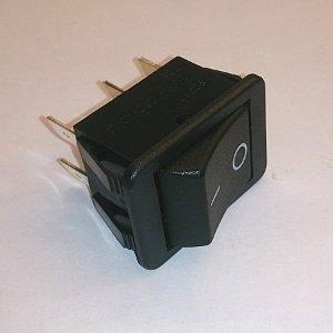 Клавишный переключатель SCS787 on-(on) (black) 16A 250V