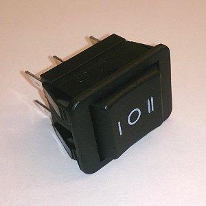 Клавишный переключатель SCS787 (on)-off-on (black) 16A 250V
