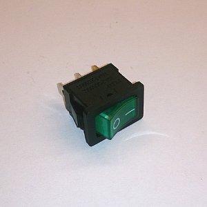 Клавишный переключатель KCD1 on-off (green) 6A 250V