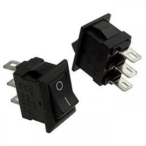Клавишный переключатель SC719 on-on (black) 3A 250V