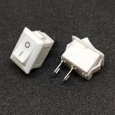 Клавишный переключатель KCD1 on-on (white) 3A 250V