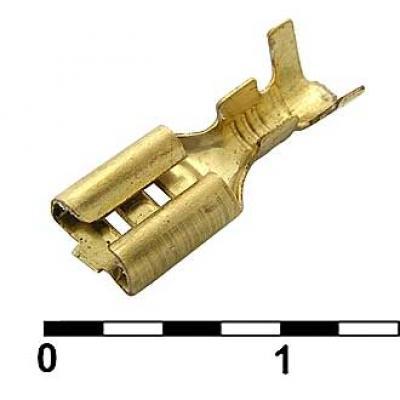 Клемма ножевая неизолированная DJ622-D4.8A 4.8мм