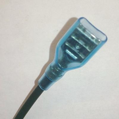Клемма ножевая изолированная Провод с клеммой (мама) 6.3 мм с силиконовым изолятором