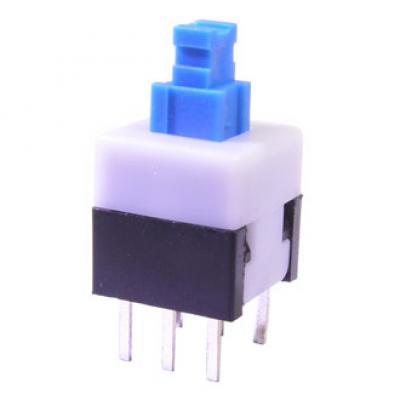 Кнопочный переключатель PB22E08 с фиксацией 8x8x13 mm