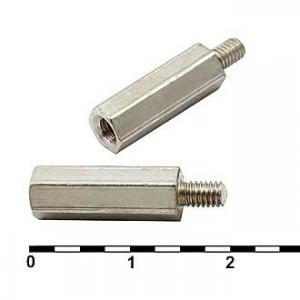 Стойка для плат М3 (латунь) PCHSN-15 Ni-plated
