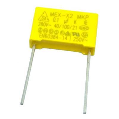 Пленочный конденсатор 0,1uf/280V помехоподавляющий