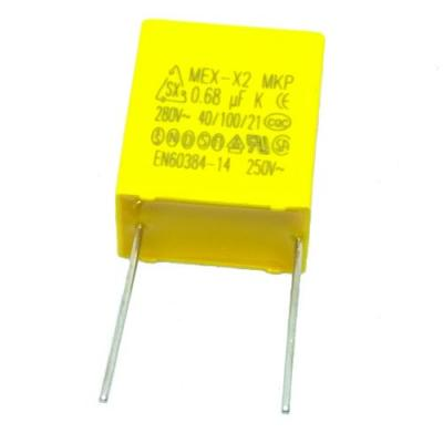 Пленочный конденсатор 0,68uf/280V помехоподавляющий