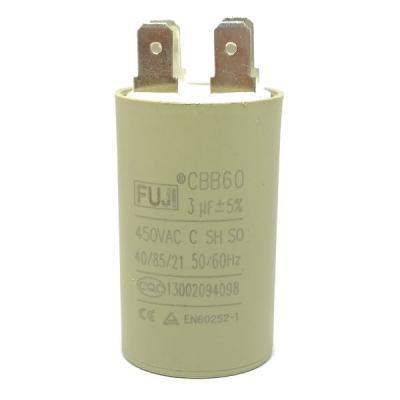 Пусковой конденсатор 3uf/450v FUJI CBB60 30x50mm