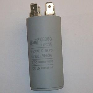 Пусковой конденсатор 3uf/450v LMG CBB60 30x65mm